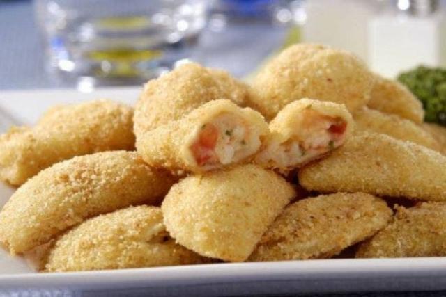 receita de risole de camarão assado
