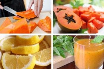 Aprenda a fazer um delicioso suco detox de mamão pra limpar seu estômago